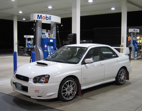 front quarter view STi